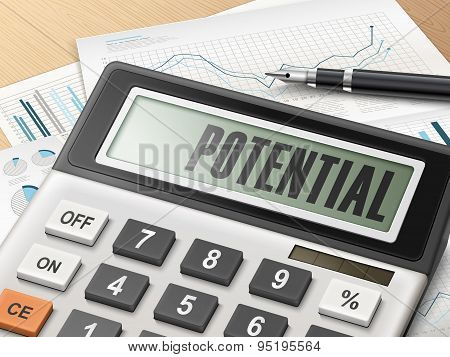 Calculator With The Word Potential