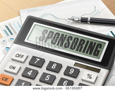 Calculator With The Word Sponsoring