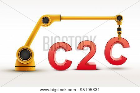 Industrial Robotic Arm Building C2C Word