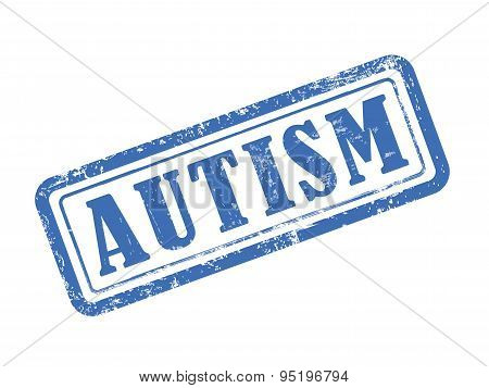Stamp Autism In Blue