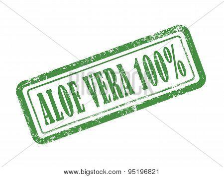 Stamp Aloe Vera 100 Percent In Green
