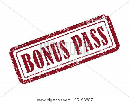 Stamp Bonus Pass In Red