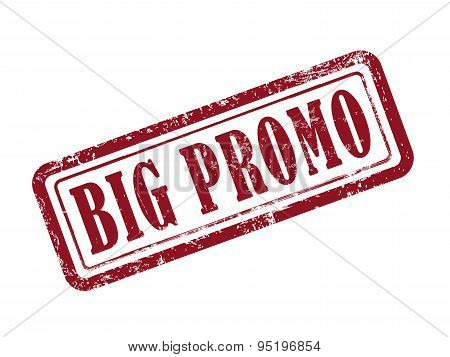 Stamp Big Promo In Red