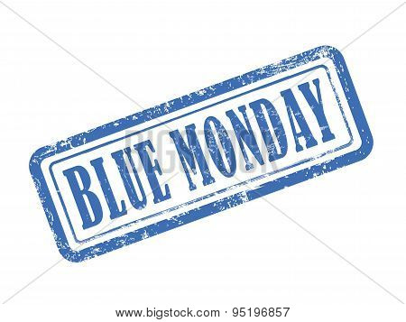 Stamp Blue Monday In Blue