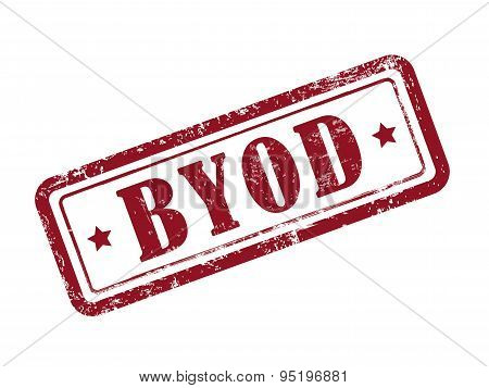 Stamp Byod In Red