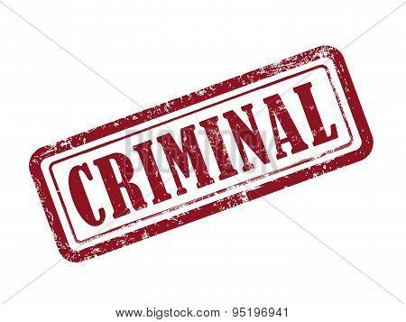 Stamp Criminal In Red