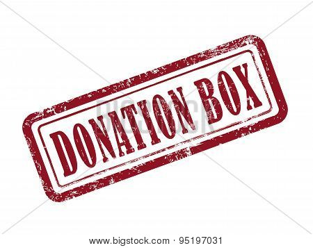 Stamp Donation Box In Red