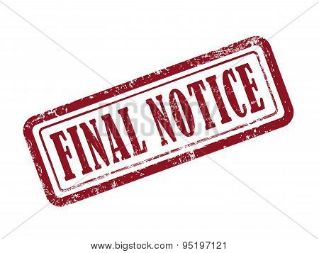 Stamp Final Notice In Red
