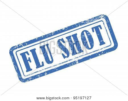 Stamp Flu Shot In Blue