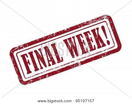 Stamp Final Week In Red