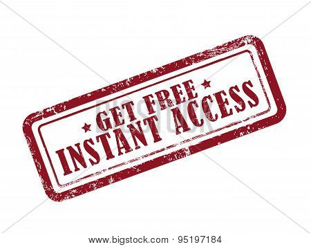 Stamp Get Free Instant Access In Red