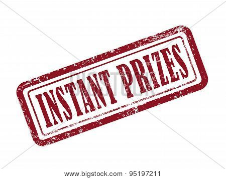 Stamp Instant Prizes In Red