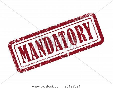 Stamp Mandatory In Red