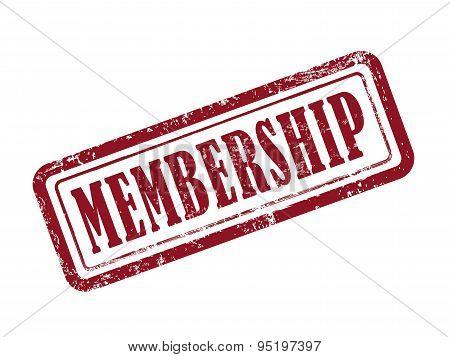 Stamp Membership In Red