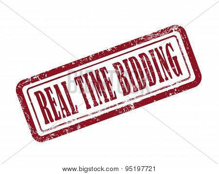 Stamp Real Time Bidding In Red