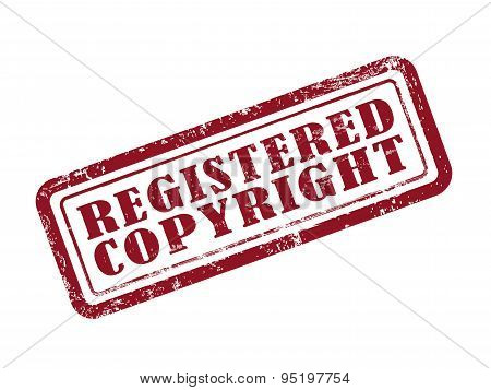 Stamp Registered Copyright In Red