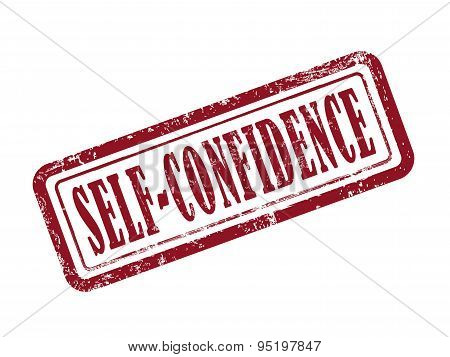 Stamp Self-confidence In Red