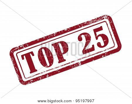 Stamp Top 25 In Red