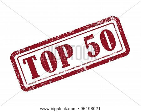 Stamp Top 50 In Red