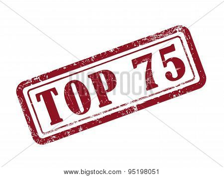 Stamp Top 75 In Red