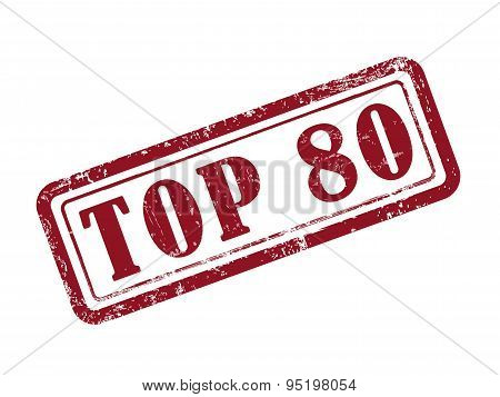 Stamp Top 80 In Red