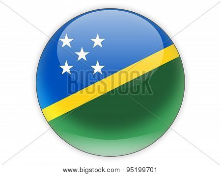 Round Icon With Flag Of Solomon Islands