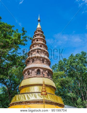 Wat Ram Poeng Pagoda,thailand The Buddhist Temple In Chiang Mai, Thailand .
