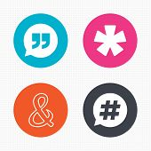 picture of ampersand  - Circle buttons - JPG