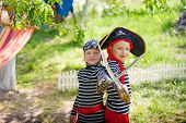 pic of pirates  - a children are plaing in pirates outdoors - JPG