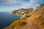 stock photo of hydra  - View of the town of Hydra - JPG