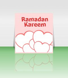 image of ramadan calligraphy  - Arabic Islamic calligraphy of text Ramadan Kareem on invitation background - JPG