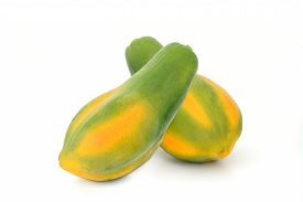 picture of papaya fruit  - Fresh Papaya fruit isolate on white background - JPG
