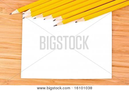 Pencils, paper and ruler