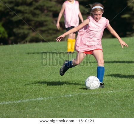 Girl On Soccer Field 24