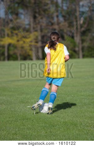 Girl On Soccer Field 23