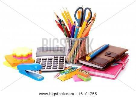 Stationery isolated on white