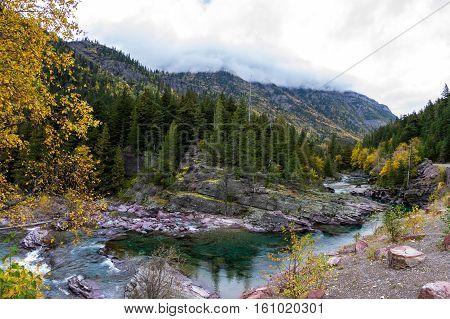 Pristine Glacial River Flow