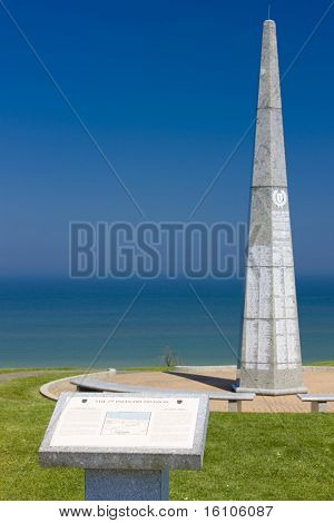 The 1st infantry division monument near Omaha Beach, Normandy, France
