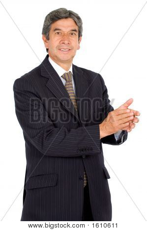 Business Man Applauding