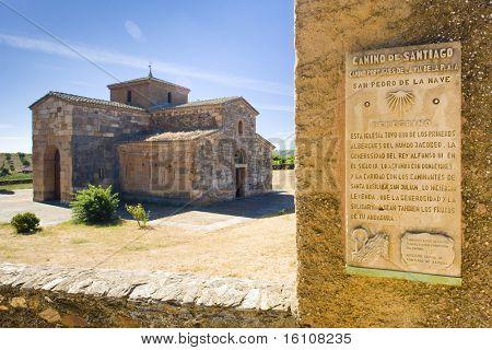 Road to Santiago de Compostela, church of San Pedro de la Nave, El Campillo, Castile and Leon, Spain