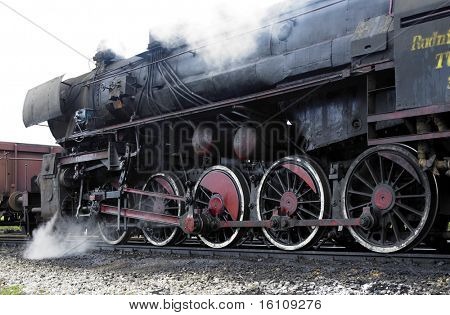 steam locomotive (33-326), Dubrava, Bosnia and Hercegovina