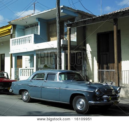 old car in Guantanamo's street, Cuba
