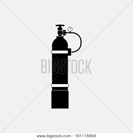 icon oxygen cylinder, fully editable vector image