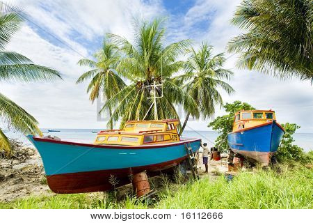 fishing boats, Six Men's Bay, Barbados