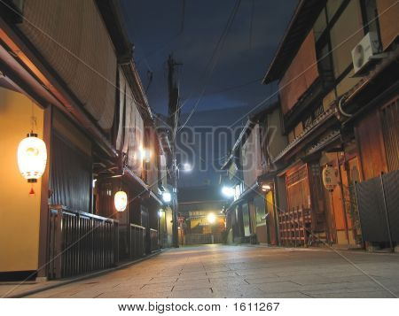 Pontoncho Street Famous For Geisha By Night, Kyoto, Japan