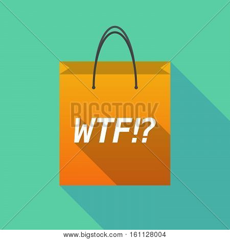 Long Shadow Shopping Bag With    The Text Wtf!?