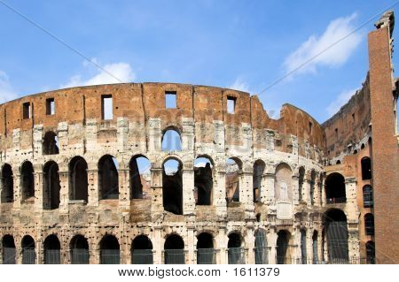 Inside Of Famous Colosseum In Rome , Italy