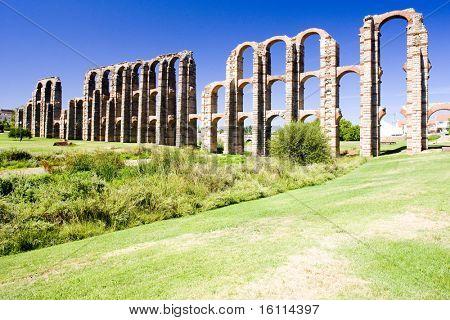 Aqueduct of Los Milagros, Merida, Badajoz Province, Extremadura, Spain