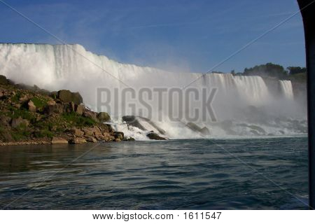Canadian veiw of Niagra Falls with