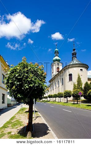 church in Nove Mesto nad Metuji, Czech Republic